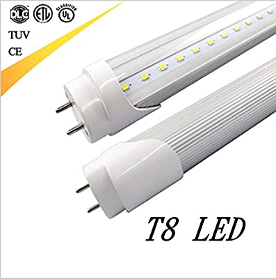 CIDA T8 LED Light Tube 3foot, 35 inches, 14W, 72pcs LED, 1400-1600 lumens, 6000K white, 50,000 hours! Warranty 5 years. LED tube, milky white cover, UL, DLC plug, double-sided connection(1Pack)