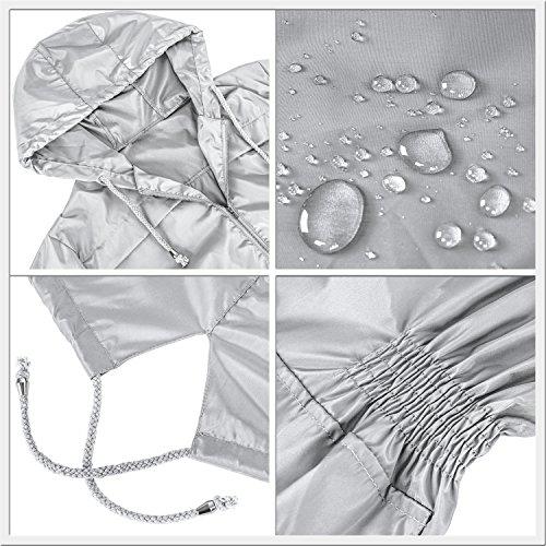 Ladies Fishtail Womens Plain Jacket Rain Raincoat Festival Parka Grey Mac Showerproof HENCY axqdOnwZa