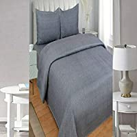 SINGHS MART Presents Fitted 240TC100% Cotton Plain/Solid Grey Bedsheet for Single Bed with Matching 1 Pilllow Cover for Your Bed Room