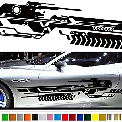 Machine car sticker car vinyl side graphics 149 car vinylgraphic custom stickers decals