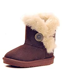 JELEUON Baby Little Boy Girl Winter Bailey Button Snow Boots