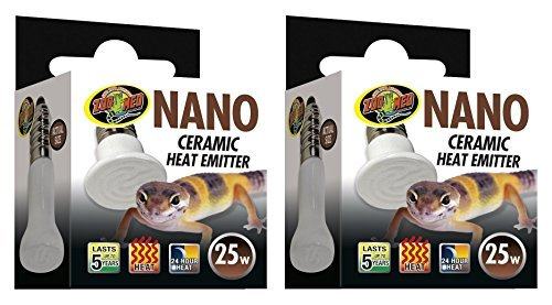 (2 Pack) Zoo Med Labs 25W Nano Ceramic Heat Emitter (Zoo Med Labs Zoo)