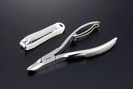 カクセー NC-01 鍛造ニッパー式爪切りとカバー付き爪切り 60-