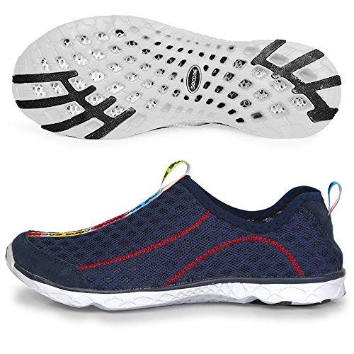 Toota Mesh Walking Hombres Y Mujeres Transpirable Corriendo Aqua Outdoor Pareja Zapatos De Agua Azul Marino