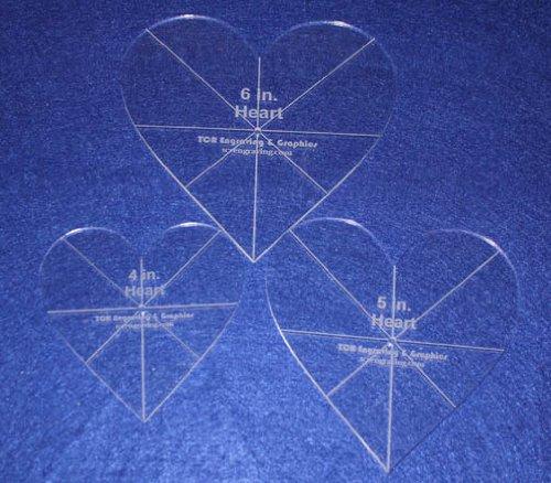 Heart Template 3 Piece Set. 4