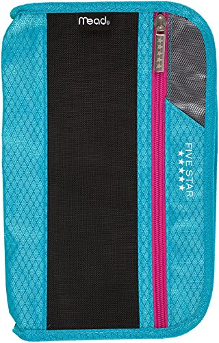 Five Star Xpanz Zipper Carrying Case / Pouch for Pencil, Pen, Supplies - Puncture Resistant, Teal/Purple by Five Star