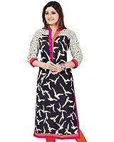 Kurtis For Women, Cotton Kurtis For Girls,Off-White Kurtis,Latest Kurtis For Girls,Blue an White Kurtis For Women Jaipuri Kurti Shubhangie