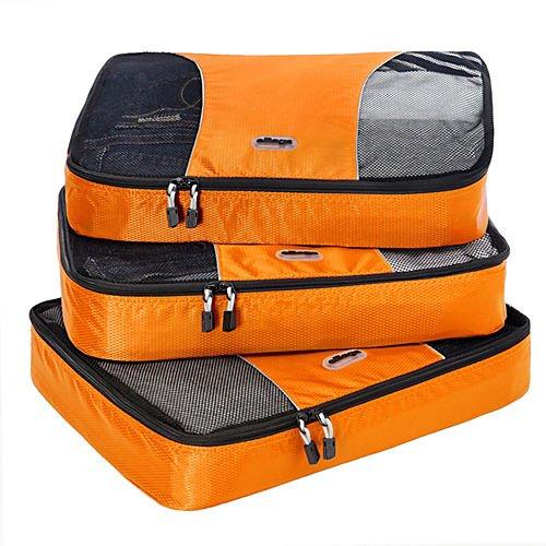 EBags Large Packing Cubes - 3pc Set (Tangerine)