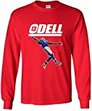 "LONG SLEEVE Red New York Odell ""The Catch"" T-Shirt"