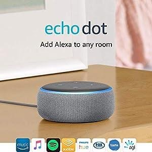 All-new Echo Dot (3rd Gen) – Smart speaker with Alexa - Heather Grey Fabric