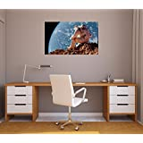 "36"" Landscape Outer Space Scene Instant View ASTRONAUT STRANDED #1 Wall Decal Room Sticker Home Office Art Décor Den Kids Mural Man Cave Graphic MEDIUM"