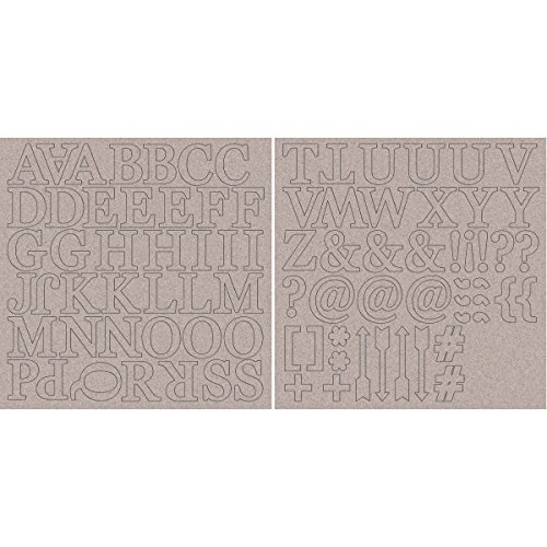 - Kaisercraft Chipboard Alphabet Sheets, 12 x 12-Inch, 1.75-Inch Uppercase Letters and Symbols, 2-Pack