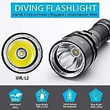Genwiss Scuba Diving Flashlight Dive Torch 2000