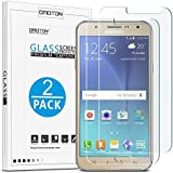 Samsung Galaxy J7 Screen Protector 2015, [2 Pack] OMOTON Tempered Glass Screen Protector Only For Samsung Galaxy J7 [5.5 Inch] (2015 Released), NOT Fit Galaxy J7 Prime, J7 2016 and Other Phone Models