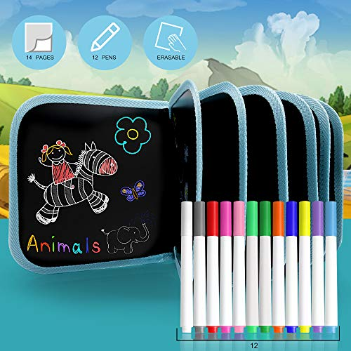 AriTan Erasable Drawing Pad Toys(Bird), Road Trip Car Travel Airplane Activities, Magna Double-Sided Reuse PP Portable Writing Board for Kids Toddlers Boys Girls Gift Age 2 3 4 5 6 7 8 Year Old