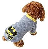 Cheap Wingeler Dog Cat Grid Sweater Puppy Warm Pet Clothes POLO Shirt Dog Coat A5-Grey-XS