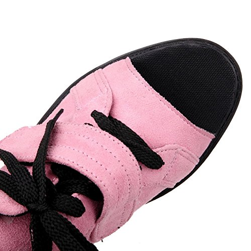 Balamasa Dames Bandage Preppy Stijl Frosted Pumps-schoenen Roze