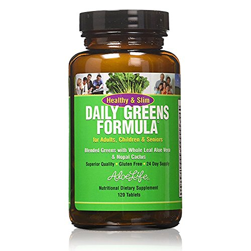 Aloe Life Healthy and Slim Daily Greens Tablets, 120 Count (Best Green Smoothie App)