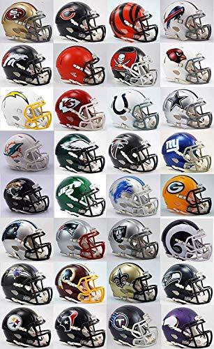 Riddell All 32 Current NFL Teams SPEED Revolution Mini Helmets