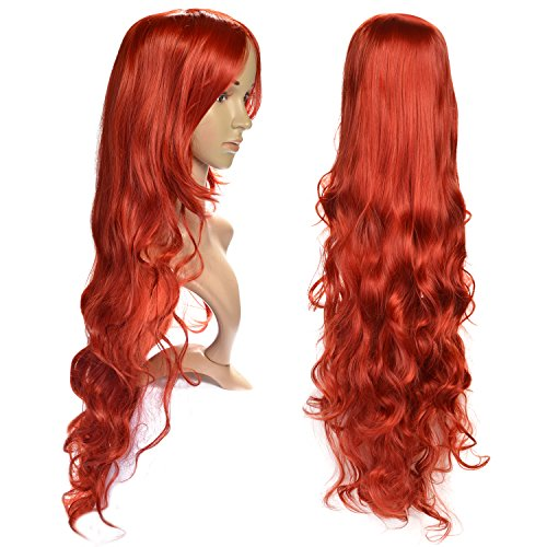 Blonde Bad Girl Wig (AGPtek Heat Resistant Curly Wavy Long Cosplay Wigs 3 Color (Red))