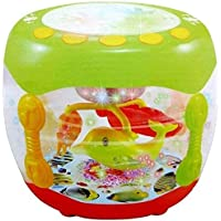 Mqfit Wonder Land Merry-Go-Round Musical Drum with 10 Songs ,3 Stories ,16 Types of Different Music,3 D Lights & Feather Touch