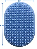 Pixikko Pet Curry Shampoo Bath Brush/Comb for