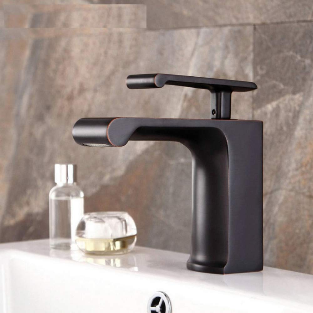Dwthh Waterfall Deck Mount Brass Bathroom Faucets Tap Vanity Vessel Sinks Mixer Waterfall Faucet Tap