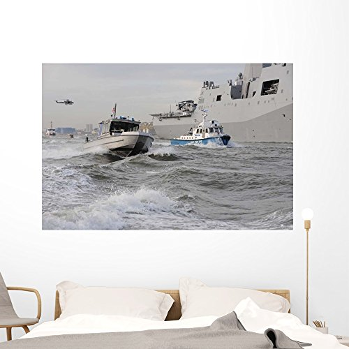 Crews from Coast Guard Wall Mural by Wallmonkeys Peel and Stick Graphic (60 in W x 40 in H) WM27342