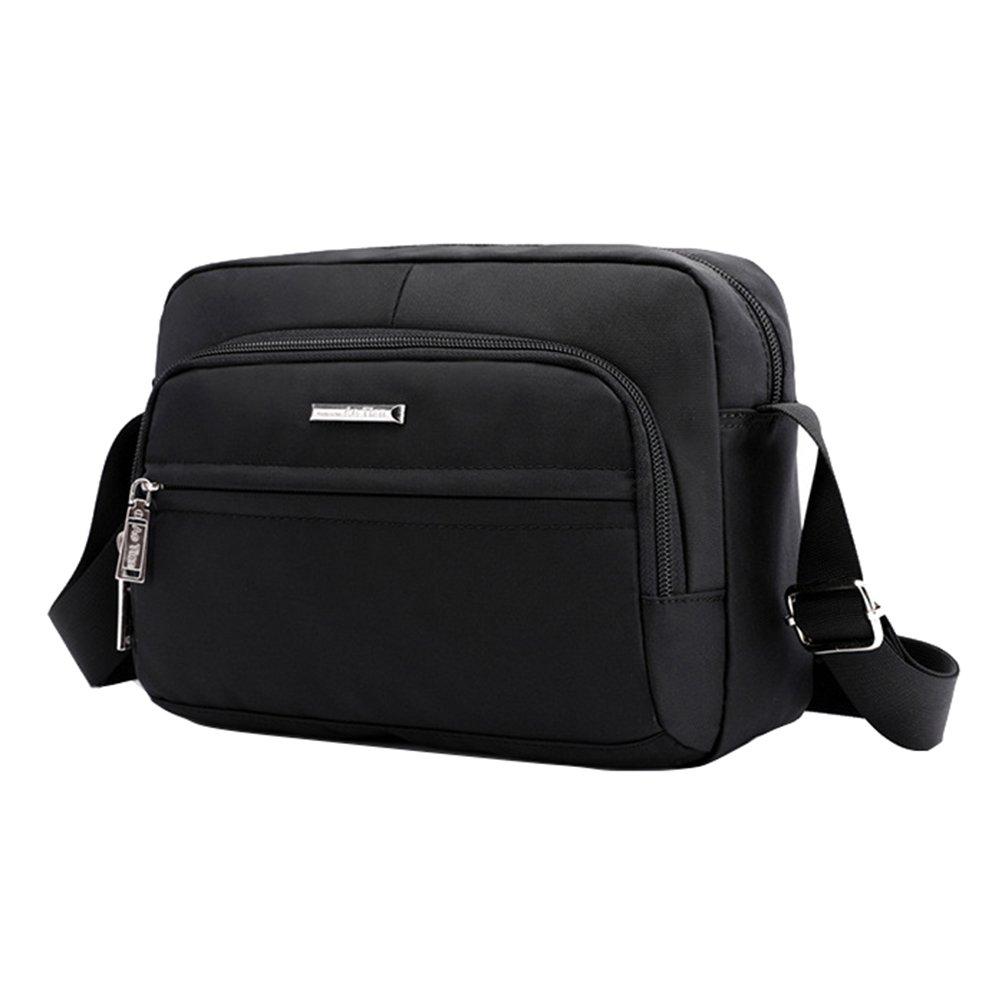 Fabuxry Women Nylon Shoulder Bags Cross Body Handabgs Travel Purses (Black)