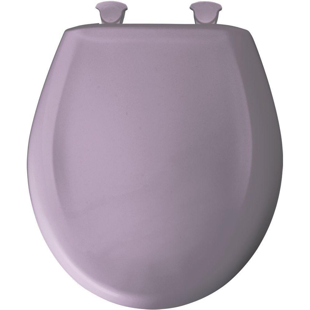 Bemis 200SLOWT 019 Lift-Off Plastic Round Slow-Close Toilet Seat Lilac
