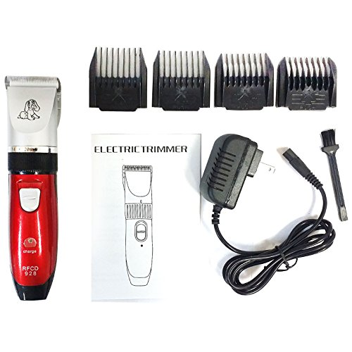Electric Cutting Animal Pet Dog Cat Hair Trimmer Shaver Grooming Clipper Red - The Closest To Best My Location Buy