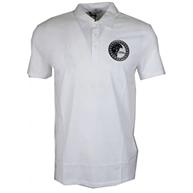 Versace - Polo - Homme Blanc Blanc - Blanc - Small  Amazon.fr ... 671ee149f64