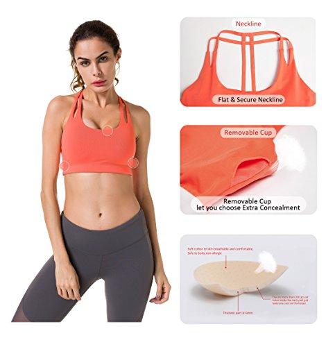 Doppia T Ke Con A Queenie Reggiseno Arancione Supporto Wirefree Posteriore Yoga Donna fzUqa84