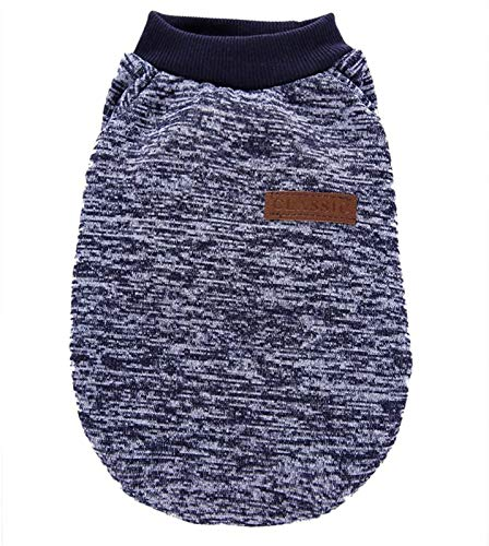 Dog Sweater for Small Medium Large Dog or Cat, Warm Soft Pet Clothes for Puppy, Small Dogs Girl or Boy, Dog Sweaters Shirt Jacket Vest Coat for Winter Christmas (XL, Grey+Navy+Blue)