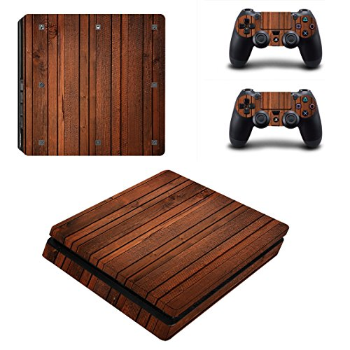 LLC Integral – Wood Style Decal Cover for Sony PlayStation 4 slim PS4 Console Gamepad pack Sticker + 2 Skins stickers for dualshock 4 Controller Review