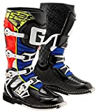 Gaerne 2180-005-10 G-React Boots, Distinct Name: Red/Yellow/Blue, Primary Color: Red, Size: 10, Gender: Mens/Unisex