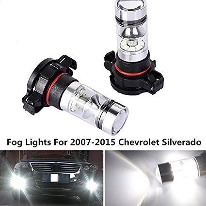 5202 LED Fog Light Bulbs 8000K for GMC Sierra 1500 2007-2015 Yukon XL 2007-2013