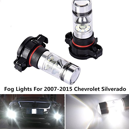 100W 6000K 5202 LED Fog Lights For 2007-2015 Chevrolet Silverado 1500 2500 3500