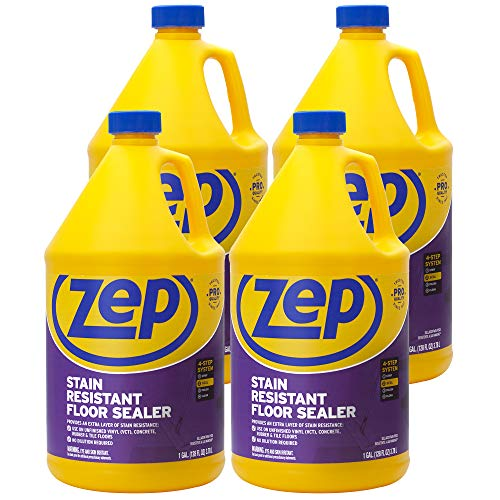 Zep Stain Resistant Floor Sealer 128 ounce ZUFSLR128 (Case of 4)