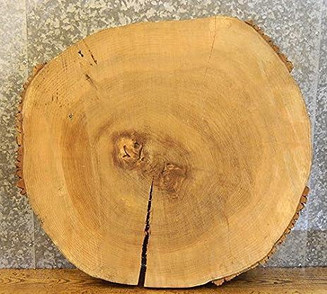 Reclaimed Live Edge Ash Round Cut Tree Slice/Coffee Table Top Slab T: 3