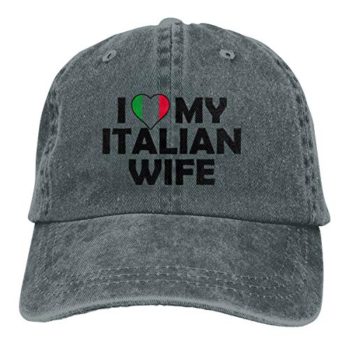 Yuliang I Love My Italian Wife Cool Unisex Adult Adjustable Snapback Cowboy Hat Deep Heather (Italian Alpine Hat)