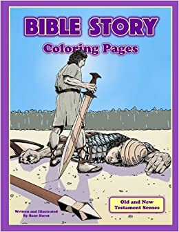 Amazon Bible Story Coloring Pages Action Scenes From The Old And New