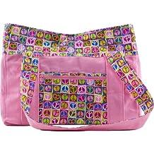 "Iota Baby ""Rainbow Stripes"" Diaper Bag - pink, one size"