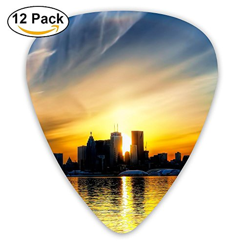 12-pack Fashion Classic Electric Guitar Picks Plectrums CN