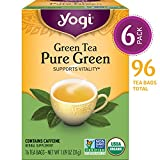 Yogi Tea - Green Tea Pure Green - Supports Vitality - 6 Pack, 96 Tea Bags Total