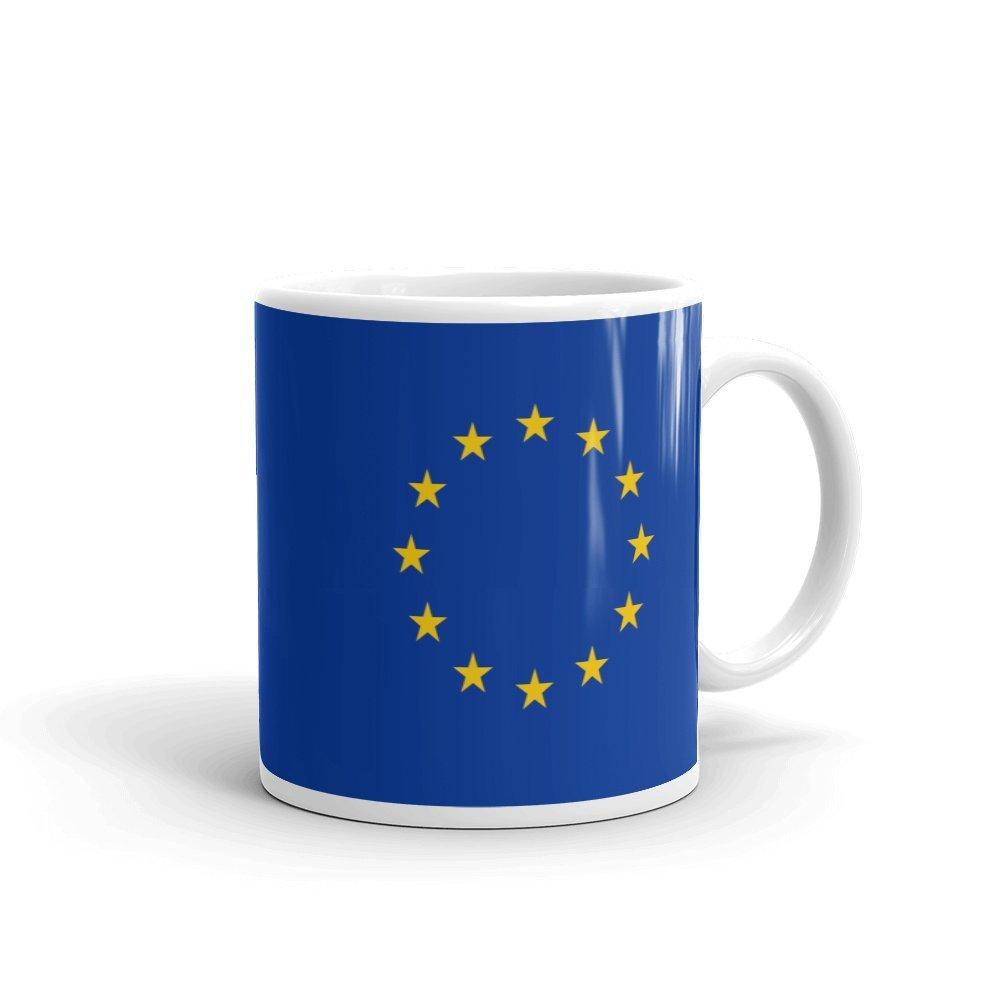 EU Flag Ceramic Mug 11 oz White