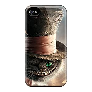 Shock Absorbent Hard Cell-phone Cases For Iphone 6 (pWr9244PsuM) Custom Fashion Cat In Alice In Wonderland Image