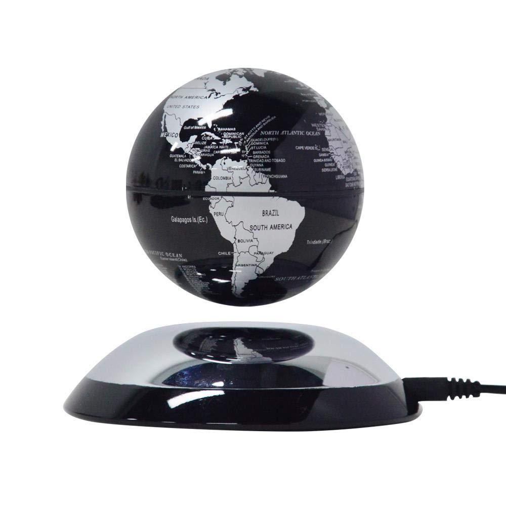 Lightahead Rotating Magnetic Levitation Globe Suspended in Air Floating Earth World Globe Best (Black)