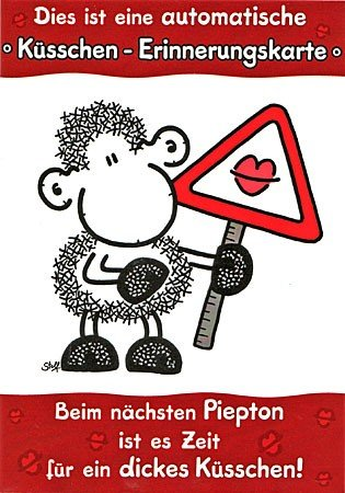 Sheepworld Kusschen Erinnerungskarte Amazon De Burobedarf