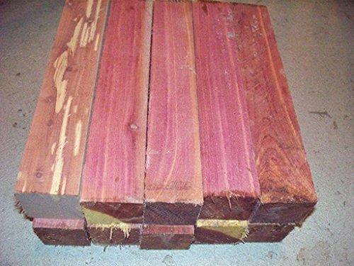 8 Eastern RED Cedar Turning Blocks Lumber Lathe 2 X 2 X 11 Cedar Log And Lumber